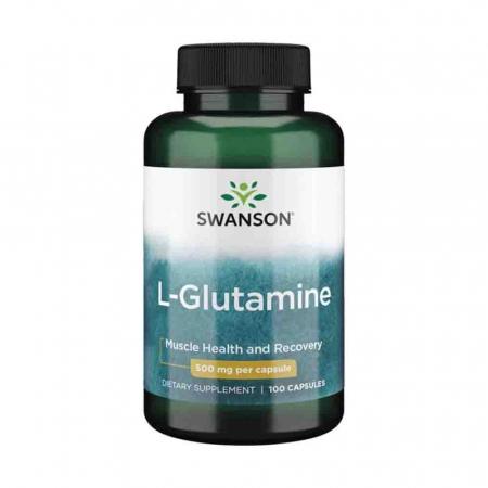 L-Glutamine, 500mg, Swanson, 100 capsule
