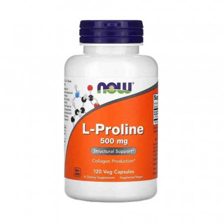 L-Proline, 500mg, Now Foods, 120 capsule0