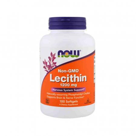 Lecitina (Lecithin) 1200mg, Now Foods, 100 softgels0