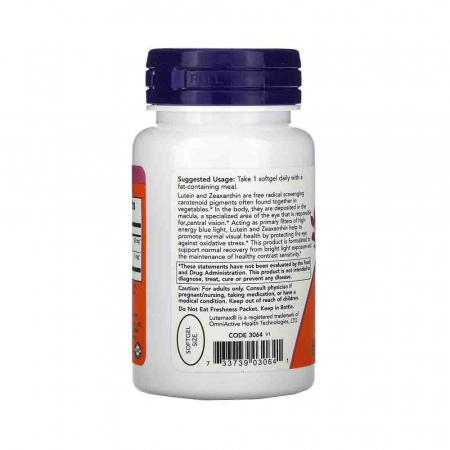 Lutein & Zeaxanthin (Luteina Zeaxantina), Now Foods, 60 softgels2