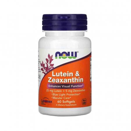 Lutein & Zeaxanthin (Luteina Zeaxantina), Now Foods, 60 softgels0