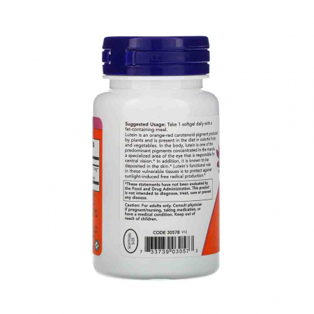 Lutein, Luteina 10mg, Now Foods2