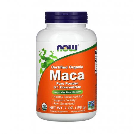 MACA Organica, Pure Powder 6:1, Now Foods, 198g