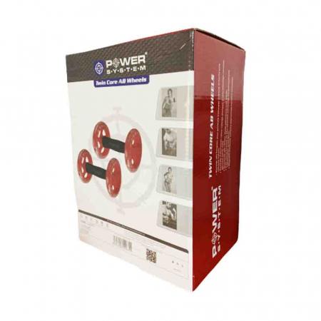 Manere cu roti pentru exercitii, Twin Core AB Wheel, Power System, Cod: 40654