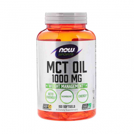 MCT Oil, 1000mg, Now Foods, 150 softgels0