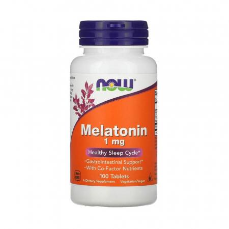 Melatonin (Melatonina) 1 mg, Now Foods, 100 tablete0
