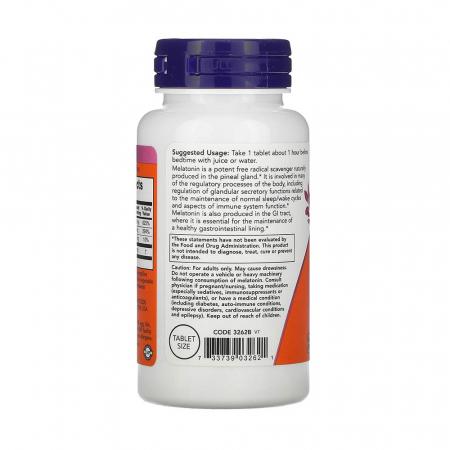 Melatonin (Melatonina) 1 mg, Now Foods, 100 tablete1