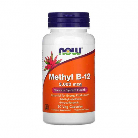 Methyl B-12 (Vitamina B12), 5000 mcg, Now Foods, 90 capsule