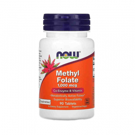 Methyl Folate, (Folat 5-MTHF) 1000mcg, Now Foods, 90 tablete