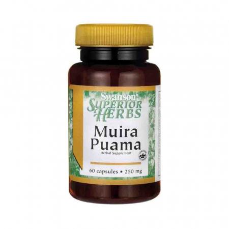 Muira Puama, 250mg (10:1), Swanson, 60 capsule SWH080