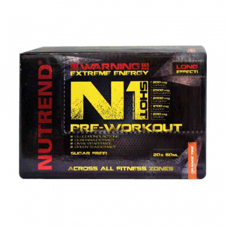 N1 Pre-Workout Shot, Nutrend, 20x60ml1