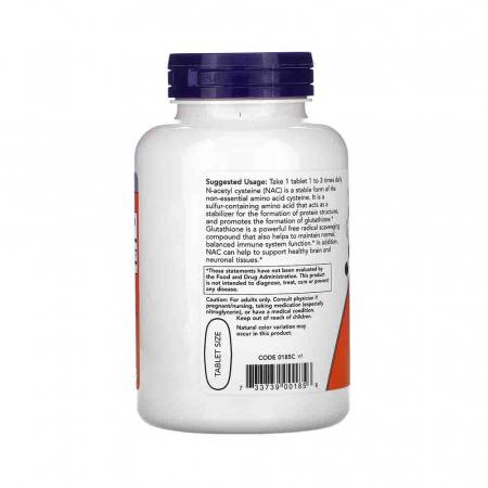 NAC, N-Acetyl Cysteine 1000mg, Now Foods, 120 tablete1