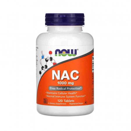 NAC, N-Acetyl Cysteine 1000mg, Now Foods, 120 tablete0