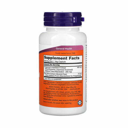 Natural Resveratrol, 200mg, Now Foods, 60 capsule2