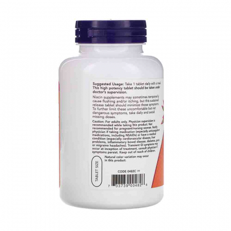 Niacin Vitamina B3 (Niacina), 500mg, Now Foods1