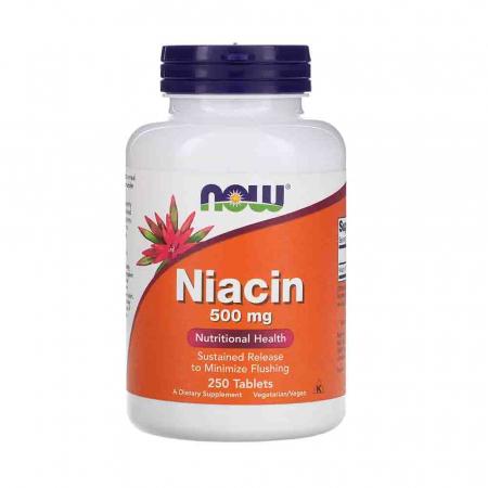 Niacin Vitamina B3 (Niacina), 500mg, Now Foods0