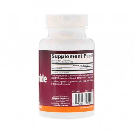 Niacinamide Vitamina B3 (Flush Free) 250mg, Jarrow Formulas, 100 capsule2