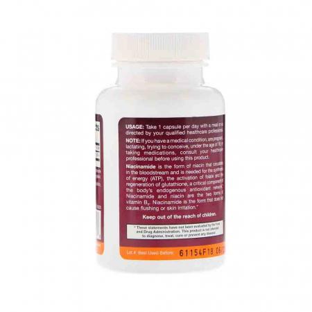 Niacinamide Vitamina B3 (Flush Free) 250mg, Jarrow Formulas, 100 capsule1