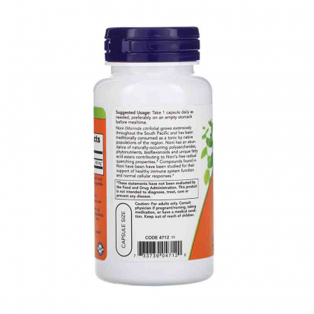 Noni (Morinda Citrifolia), 450mg, Now Foods, 90 capsule1