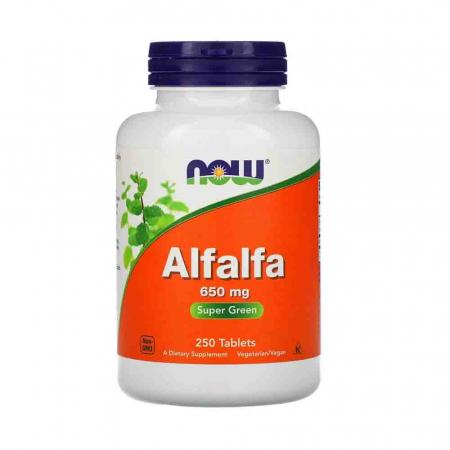Alfalfa (Lucerna) 10 Cereale, 650mg, Now Foods, 90 capsule0