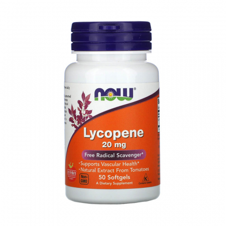 Lycopene (Licopen) 20mg, Now Foods, 50 softgels0