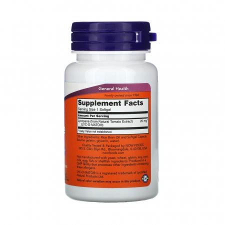 Lycopene (Licopen) 20mg, Now Foods, 50 softgels2