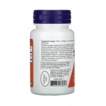Lycopene (Licopen) 20mg, Now Foods, 50 softgels1