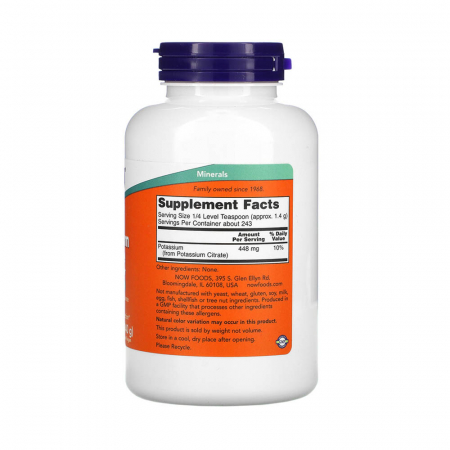 Potassium Citrate Pure Powder, Now Foods, 340g2
