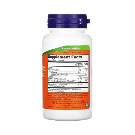 Sambucus Zinc-C (Extract de Soc), Now Foods, 60 drajeuri2