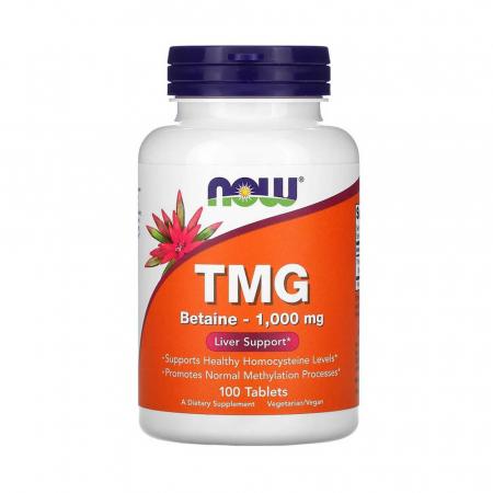 TMG, (Trimethylglycine) 1000 mg, Now Foods, 100 tablete0