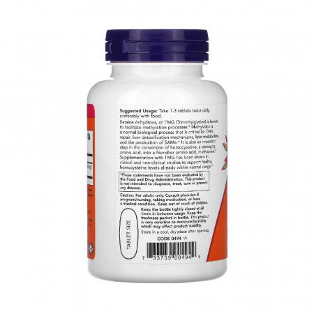 TMG, (Trimethylglycine) 1000 mg, Now Foods, 100 tablete1