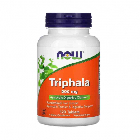 Triphala (Ayurvedica Rasayana), 500mg, Now Foods, 120 tablete0
