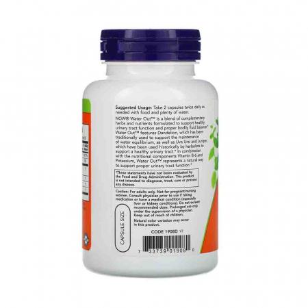 Water Out, (Retentie de Apa) Fluid Balance, Now Foods, 100 capsule1