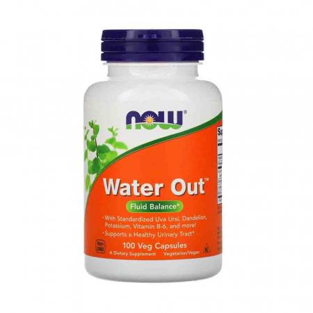 Water Out, (Retentie de Apa) Fluid Balance, Now Foods, 100 capsule0