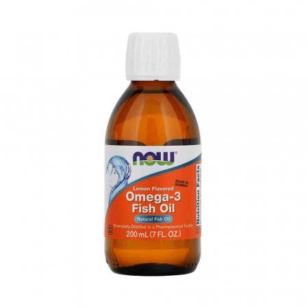 Omega 3 Lichid (Fish Oil Liquid), Now Foods, 200 ml0