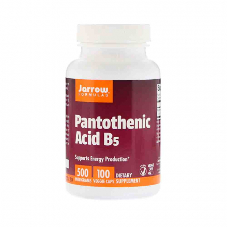 Pantothenic Acid (VItamina B5), 500mg, Jarrow Formulas, 100 capsule0