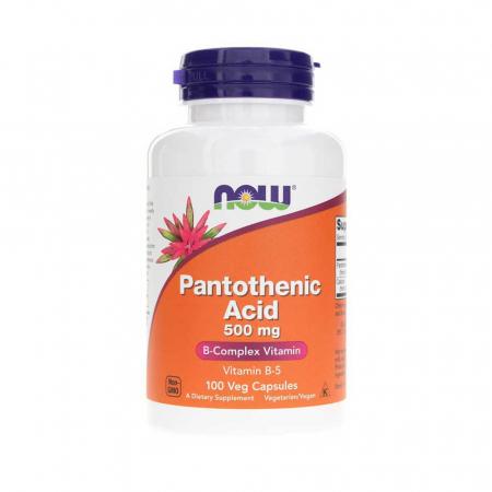 Pantothenic Acid (Vitamina B5), 500mg , Now Foods, 100 capsule0