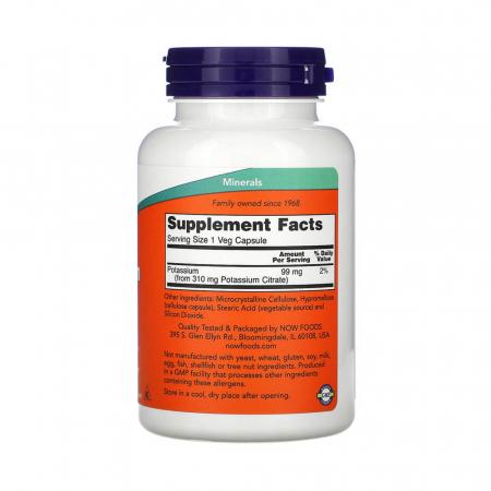Potassium Citrate (Potasiu), 99mg, Now Foods, 180 capsule2