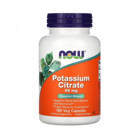 Potassium Citrate (Potasiu), 99mg, Now Foods, 180 capsule0