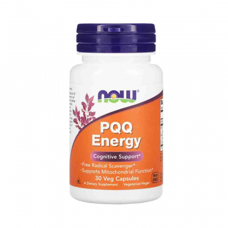 PQQ Energy 20mg with B12 and CoQ10, Now Foods, 30 capsule0