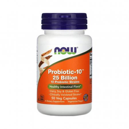 Probiotic-10 (Probiotice) 25 Billion, Now Foods, 50 capsule0