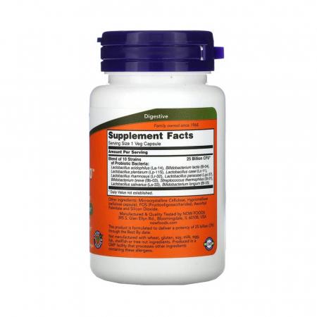 Probiotic-10 (Probiotice) 25 Billion, Now Foods, 50 capsule2