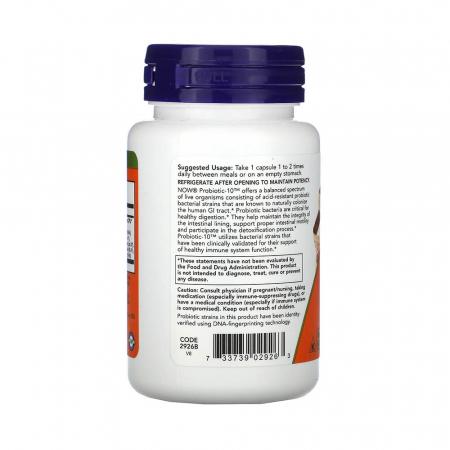 Probiotic-10 (Probiotice) 25 Billion, Now Foods, 50 capsule1
