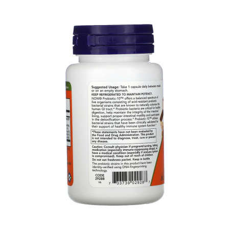 Probiotic-10 (Probiotice) 50 Billion, Now Foods, 50 capsule2