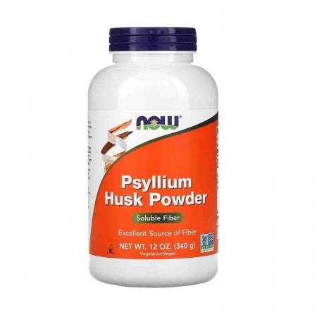 Psyllium Husk Powder, Now Foods, 340 g0