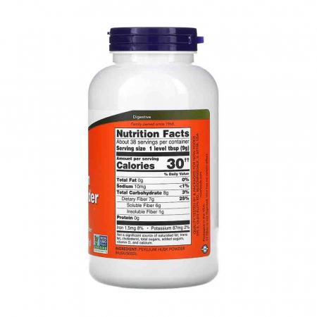 Psyllium Husk Powder, Now Foods, 340 g2
