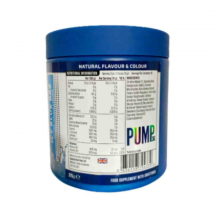Pump 3G Pre-Workout, Applied Nutrition, 375g2