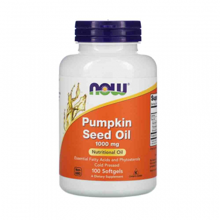 Pumpkin Seed Oil (Ulei Seminte Dovleac), 1000mg, Now Foods, 100 softgels0