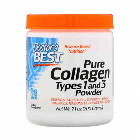 Pure Collagen Types 1 and 3, Powder, Doctor's Best, 200g0
