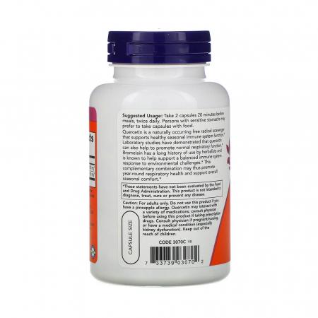 Quercetin with Bromelain (Antioxidant), Now Foods, 120 capsule1